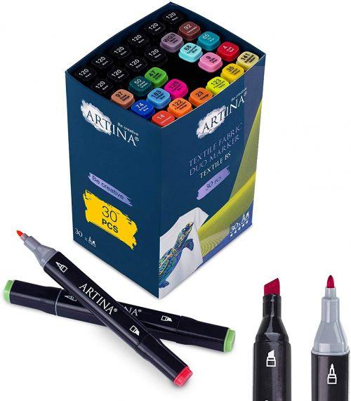 Комплект от 30 бр. маркери за текстил Artina