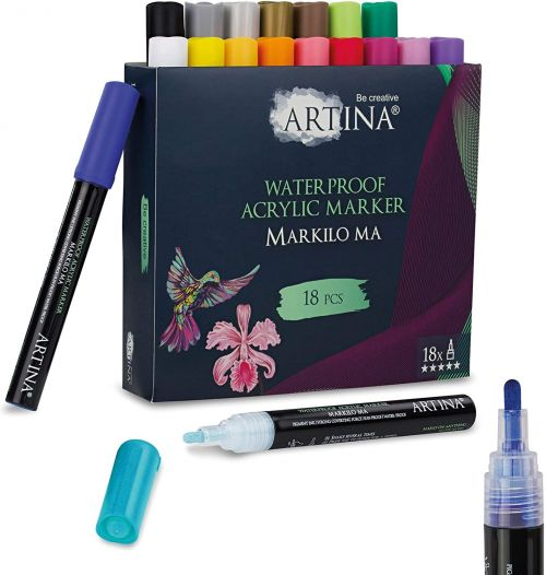 Комплект 18 бр. акрилни писалки Artina Markilo Ma