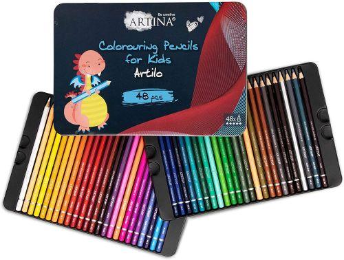 Комплект от 48 бр. детски моливи Artina Kids