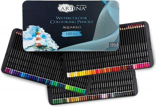Комплект 120 бр. акварелни моливи Artina Buntstifte