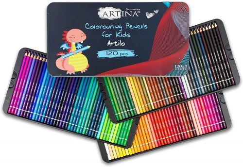 Комплект от 120 бр. детски моливи Artina Kids