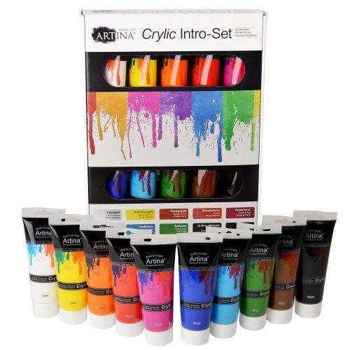 Акрилни бои 10 цвята х 120 мл