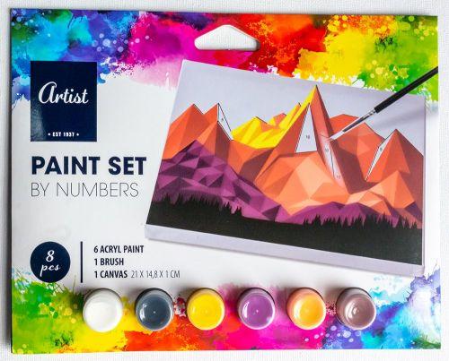 Комплект за рисуване по номера Artist